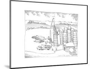Maize and corn farm - Cartoon by John O'brien