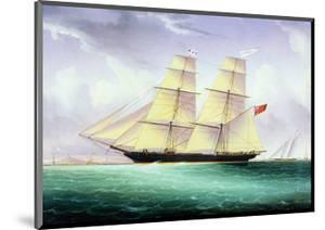 Merchant Brig America Off Boston by John O'brien