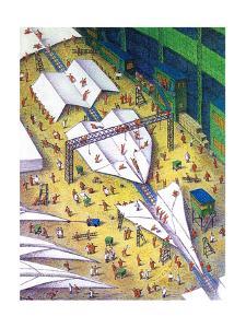 Paper airplane making facility - Cartoon by John O'brien