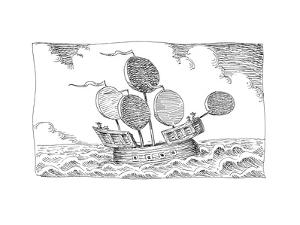 Sail Boat - Cartoon by John O'brien