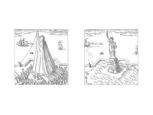 Statue of Liberty - Cartoon by John O'brien