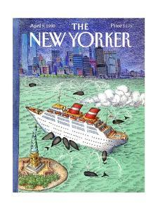 The New Yorker Cover - April 9, 1990 by John O'brien