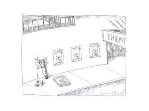 Theatre ticket booth as poster. - Cartoon by John O'brien