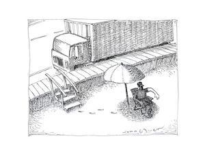 Trucker Tan - Cartoon by John O'brien