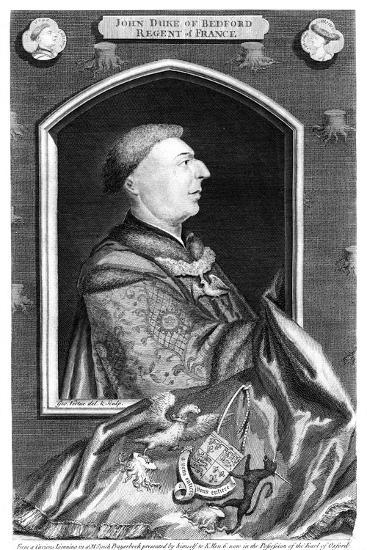 John of Lancaster, 1st Duke of Bedford-George Vertue-Giclee Print