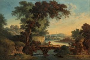 Landscape with Castle and Bridge by John Oldfield