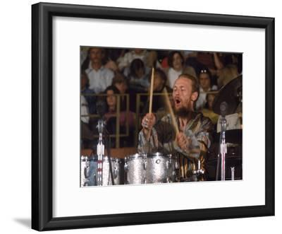 Drummer Ginger Baker of the Band Blind Faith in Concert at the Los Angeles Forum