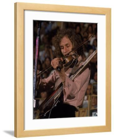 """Electric Violinist Rick Grech from the Group """"Blind Faith."""""""