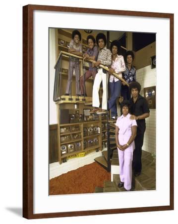 Jackson Five Michael, Marlon, Tito, Jermaine, Jackie and Parents Mr. and Mrs. Joseph Jackson