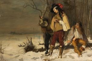 Distressed Cavaliers Turned Highwaymen, 1861 by John Pettie