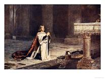 Aspirant Knight Keeping Vigil of Arms for Entry into Knighthood, Illustration from 'Romance and…-John Pettie-Giclee Print