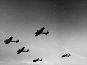 A View of Bomber Planes Being Used During US Army Maneuvers by John Phillips