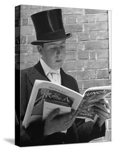 At Eton College, Lord Buckhurst, Son of Earl de La Warr Reading Punch by John Phillips