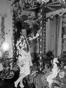 Cecil Beaton Wearing First Costume of Evening Covered with Broken Eggs and Trousers with Bees by John Phillips
