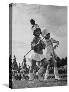 Drum Majors For All Girl High School Band Performing by John Phillips