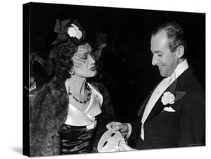 Fashion Designer Gabrielle Chanel with Photographer Cecil Beaton by John Phillips