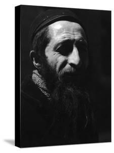 Head of Middle Aged, Bearded, Jewish Man from Poland in Cap and Jacket by John Phillips