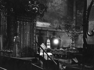 Interior of the Old New Synagogue, Built 1250, Oldest Operating Synagogue in Europe by John Phillips