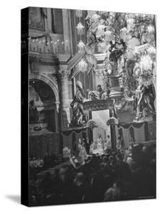 Interior View of St. Peter's Church During Mother Cabrini's Canonization by John Phillips