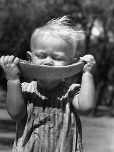 Little Boy Eating a Watermelon by John Phillips