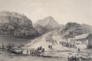 Mexican Army Crossing Rio Frio by John Phillips