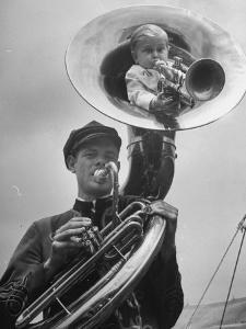 Midget Czech Showman Baron Richard Nowak, Blowing on a Trumpet by John Phillips