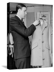 Rene, the Head Tailor, Hemming a Dress Jacket by John Phillips