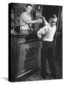Revolving-Head Man Martin Laurello at Party Held for Robert Ripley's Oddities by John Phillips