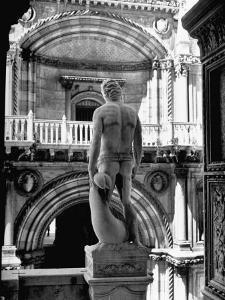 Statue of the Roman God Mars Standing Inside the Doge's Palace by John Phillips