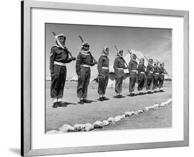 The Arab Legion Standing in a Formal Line