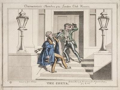 View of Two Drunken Revellers on the Steps of Crockford's Club, London, 1829