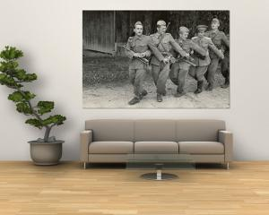 """Yugoslavian Infantrymen and Office Singing """"Tito, Tito, Little Flower, Beloved by All the Youth."""" by John Phillips"""