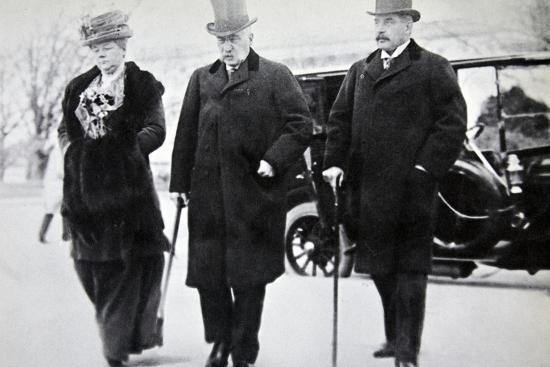 John Pierpont Morgan, American financier and banker, with his son and daughter, 1912-Unknown-Photographic Print