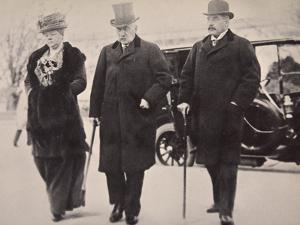 John Pierpont Morgan with His Son and Daughter Attending the Money Trust Investigation