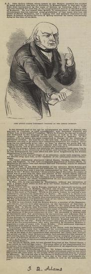John Quincy Adams, Addressing Congress on the Oregon Question--Giclee Print