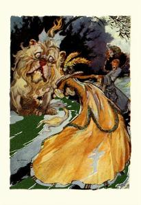 Cowardly Lion by John R^ Neill