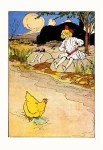 Dorothy and Hen by John R^ Neill