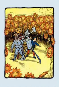 Field of Sunflowers by John R. Neill