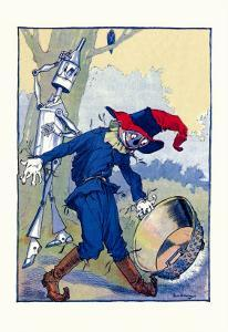 The Tin Man and Scarecrow by John R^ Neill