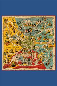 The Wonderful Game of Oz - Board by John R^ Neill