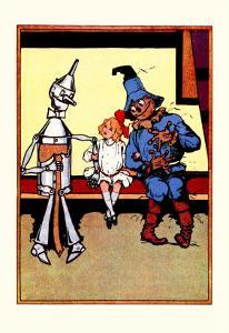 Tin Man, Dorothy and Scarecrow by John R^ Neill
