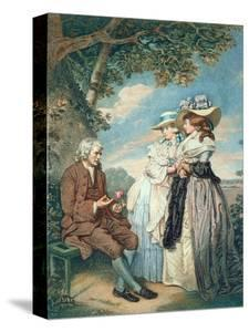 The Moralist, 1787 (Hand Coloured Stipple Engraving) by John Raphael Smith