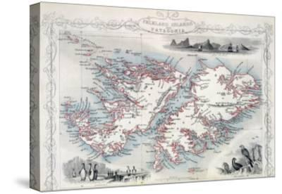 Falkland Islands and Patagonia, Series of World Maps, c.1850