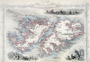 Falkland Islands and Patagonia, Series of World Maps, c.1850 by John Rapkin