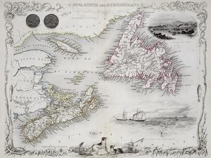 Nova Scotia and Newfoundland, Series of World Maps, c.1850 by John Rapkin