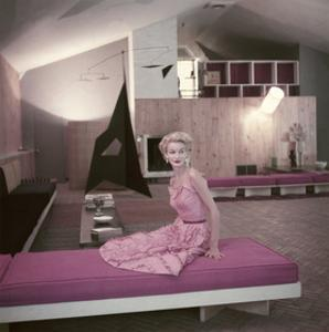 Model Sunny Harnett Seated in Architect Jos-Luis Sert's House by John Rawlings
