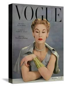 Vogue Cover - May 1950 - Bracelet Envy by John Rawlings
