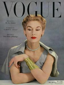 Vogue Cover - May 1950 - Bracelet Envy by John Rawlings