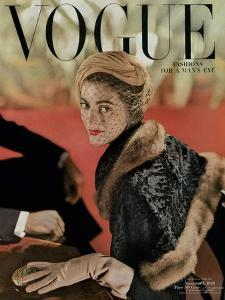 Vogue Cover - November 1948 by John Rawlings