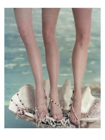 Vogue - July 1954 - Three Legs in a Half-Shell